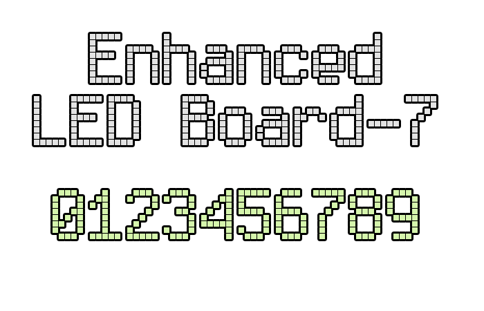 Enhanced LED Board-7 font by Style-7