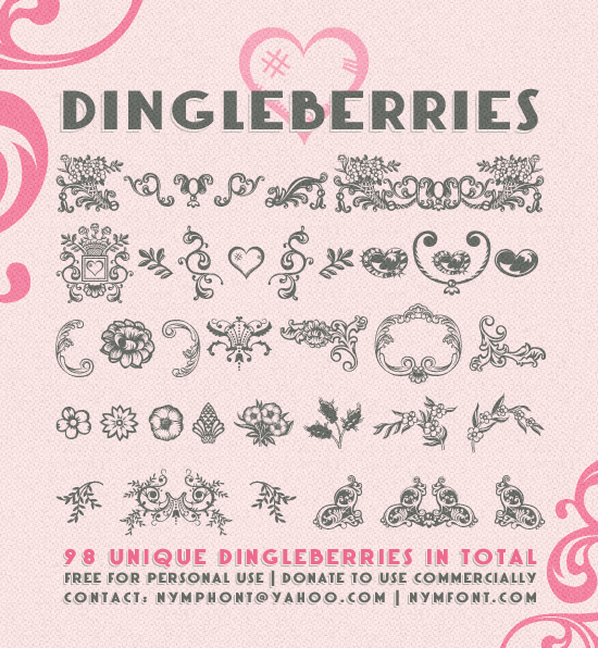 Dingleberries font by Nymphont