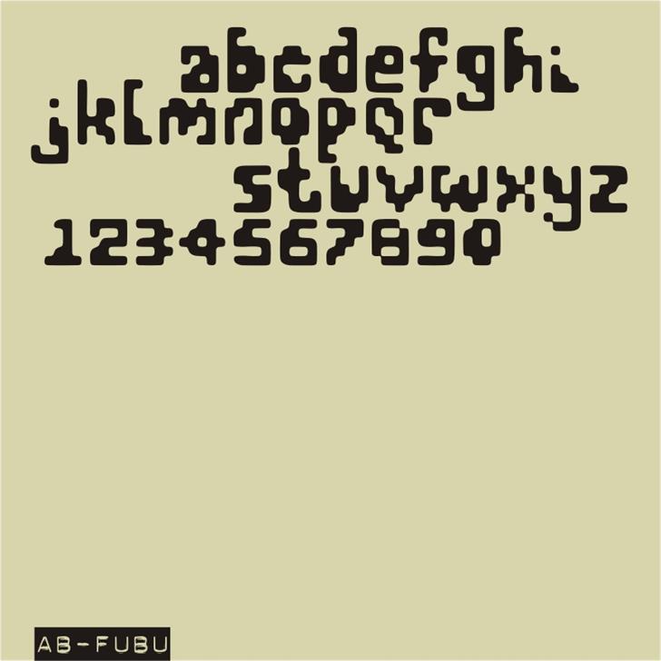 AB FuBu font by redFONTS