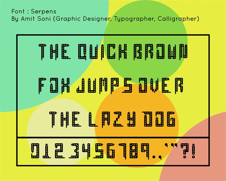 Serpens font by Amitsoni2410