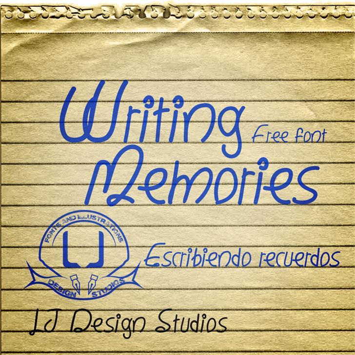 Writing Memories font by LJ Design Studios