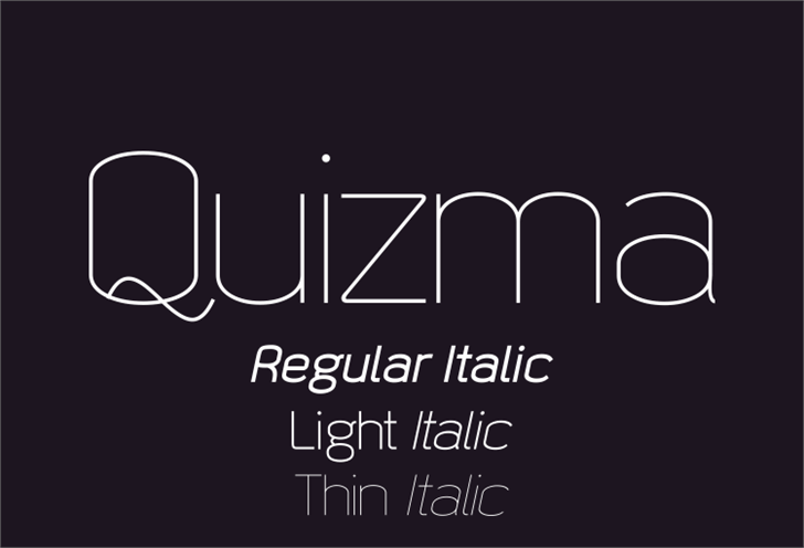 Quizma font by studiotypo