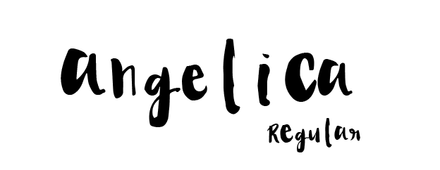 Angelica font by Angelica Lopez