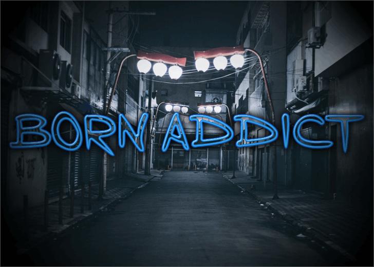 Born Addict font by Font Monger