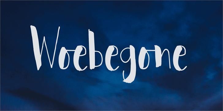 Woebegone DEMO font by David Kerkhoff