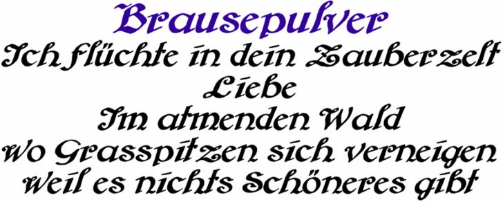 Brausepulver font by Peter Wiegel