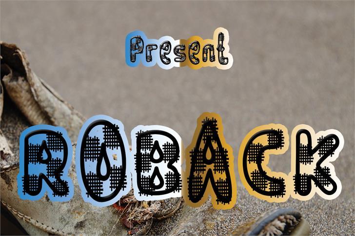 ROBACK font by nafkah