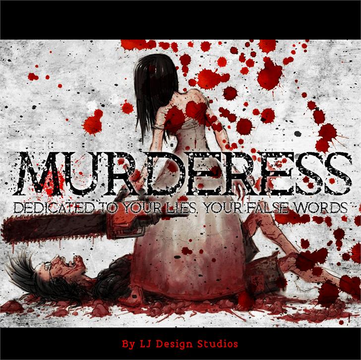 Murderess font by LJ Design Studios