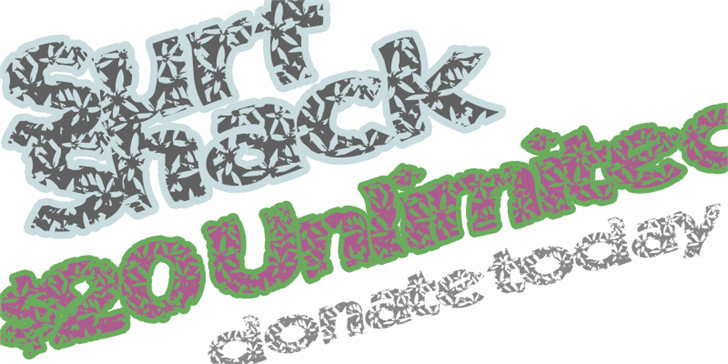 SurfShack font by Xerographer Fonts