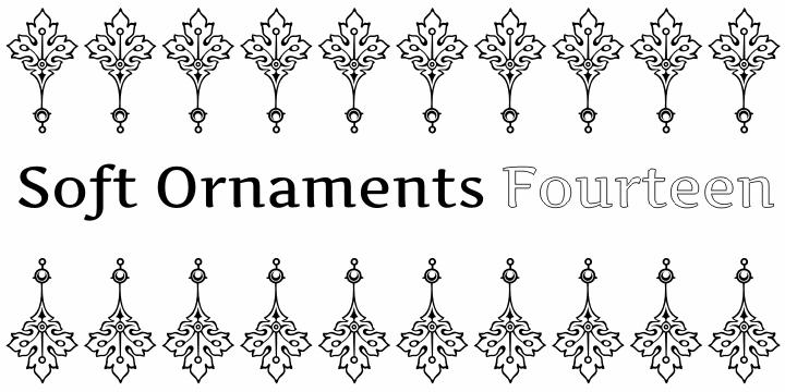 Soft Ornaments Fourteen font by Intellecta Design