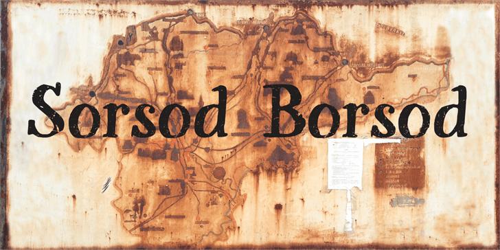 Sorsod Borsod Demo font by Roland Huse Design