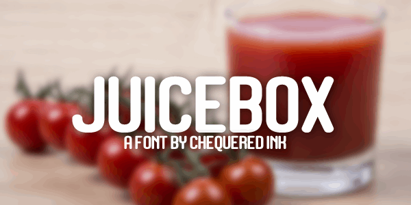 Juicebox font by Chequered Ink