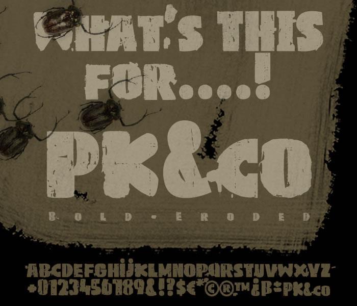 PKco font by paintblack éditions