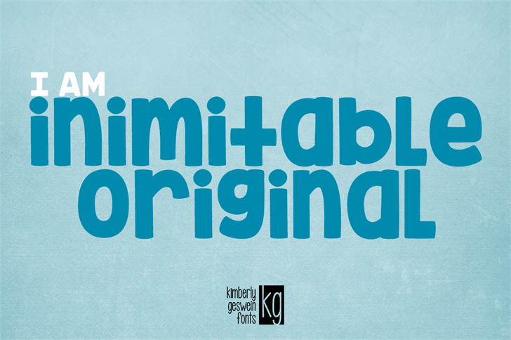 KG Inimitable Original font by Kimberly Geswein