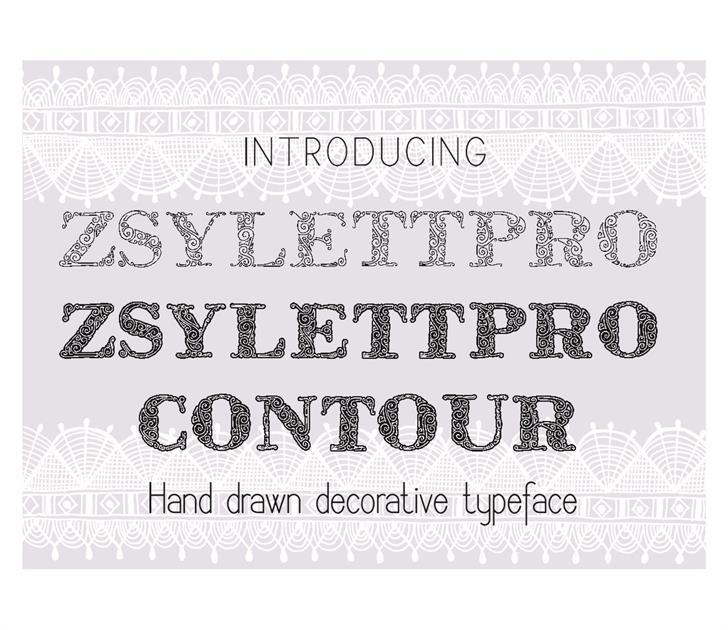 ZsylettPro font by Eva Barabasne Olasz
