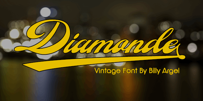 Diamonde Personal Use font by Billy Argel