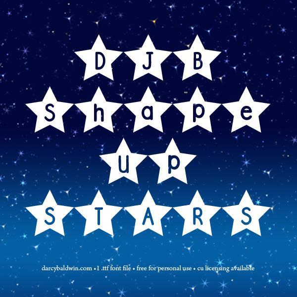 DJB Shape Up Stars font by Darcy Baldwin Fonts
