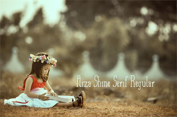 Aiza Shine Serif font by Creativetacos