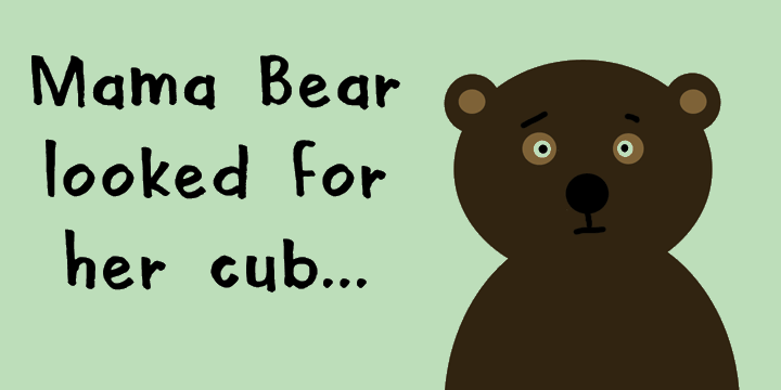 DK Mama Bear font by David Kerkhoff