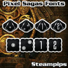 Steampips d6 font by Pixel Sagas