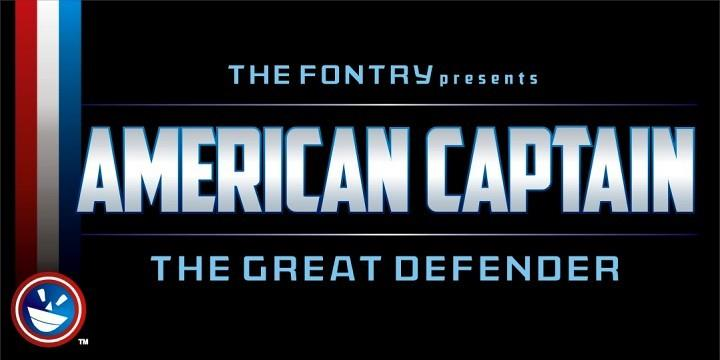 American Captain font by the Fontry