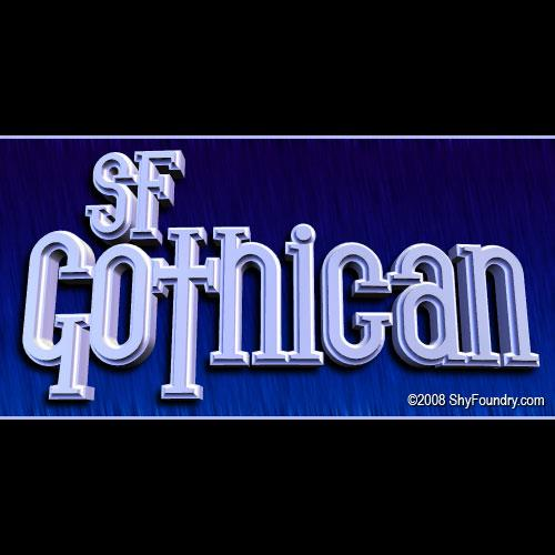 SF Gothican font by ShyFoundry