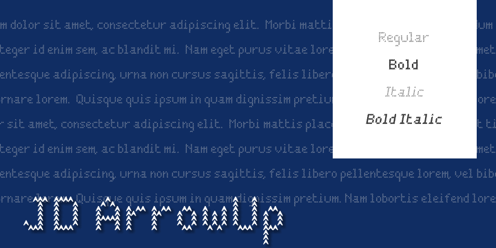 JD ArrowUp font by Jecko Development