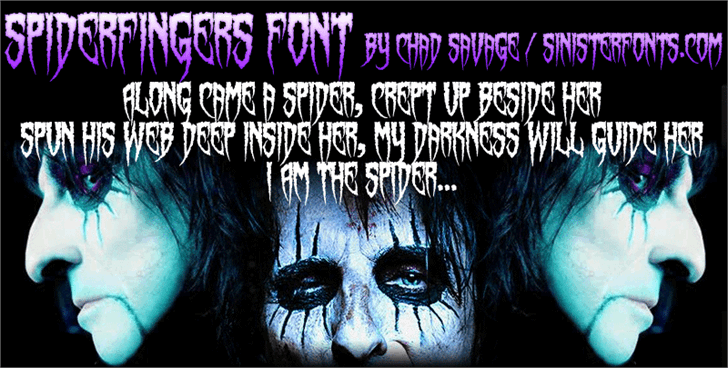Spiderfingers font by Sinister Fonts