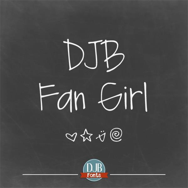 DJB Fan Girl font by Darcy Baldwin Fonts