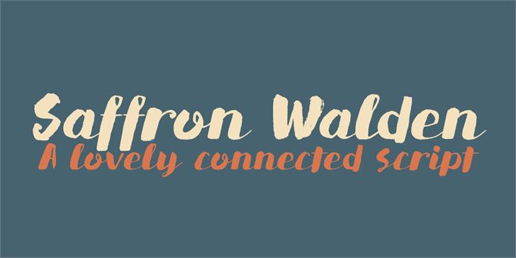 DK Saffron Walden font by David Kerkhoff