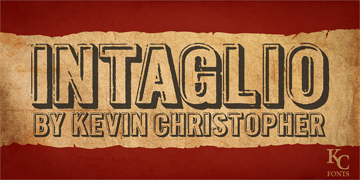 Intaglio DEMO font by KC Fonts