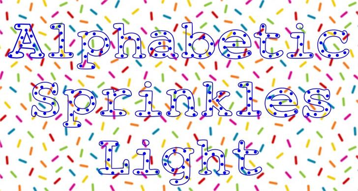 AlphabeticSprinklesLight font by UpandIt