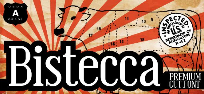 Bistecca font by Zetafonts