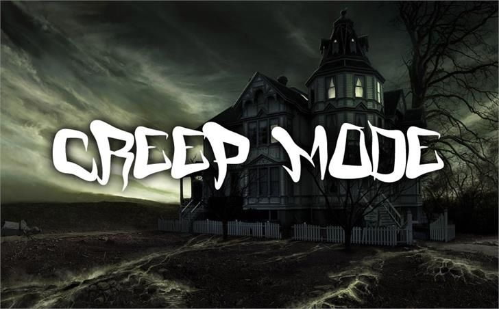 FM Creep Mode font by Font Monger