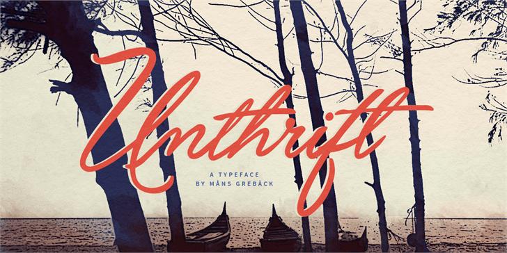 Unthrift Personal font by Måns Grebäck