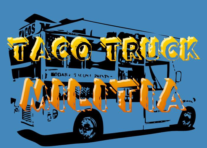 Taco Truck Militia font by Chris Vile