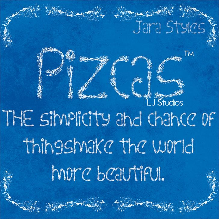 Pizcas font by LJ Design Studios