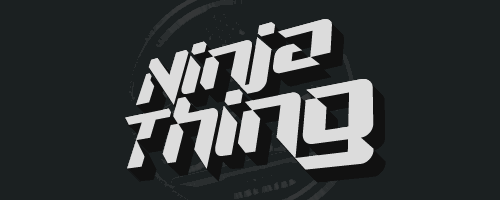 Ninja Thing font by Chequered Ink