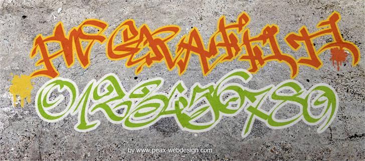 PWGraffiti font by Peax Webdesign