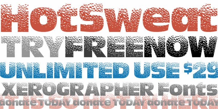HotSweat font by Xerographer Fonts