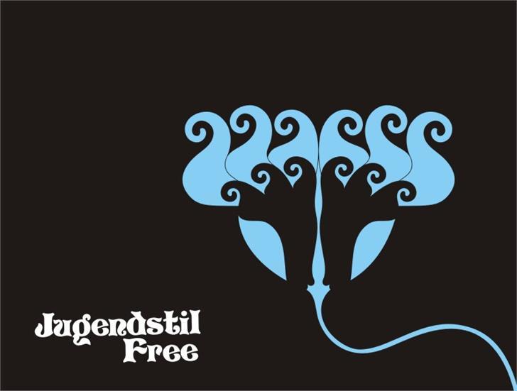 Jugendstil Flowers Free font by Intellecta Design