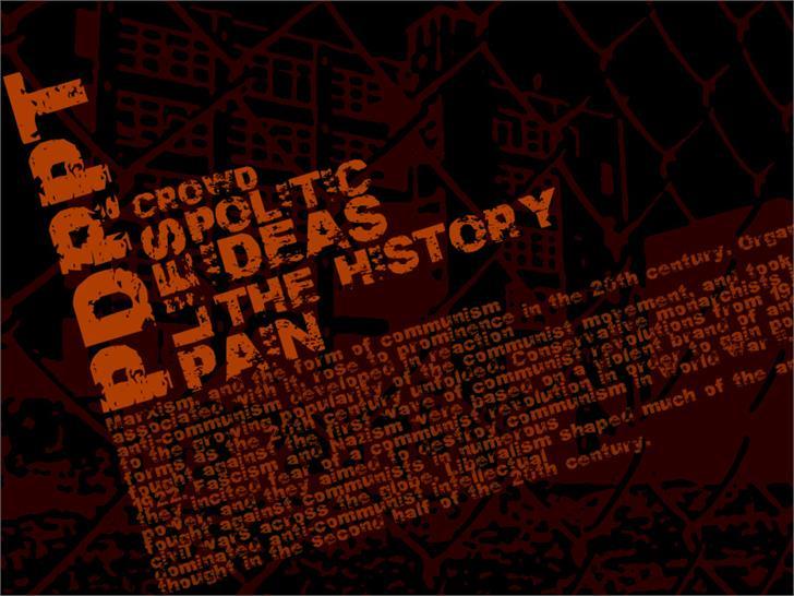 PDRPT font by Billy Argel