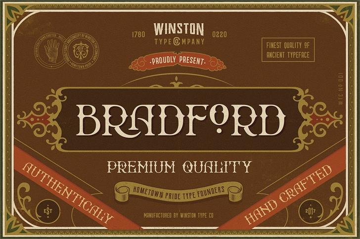 Bradford font by Winston Type Co.