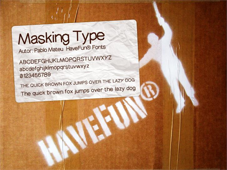 MaskingType font by HaveFun® Fonts