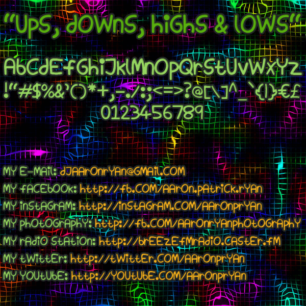Ups, Downs, Highs & Lows font by Magic Fonts