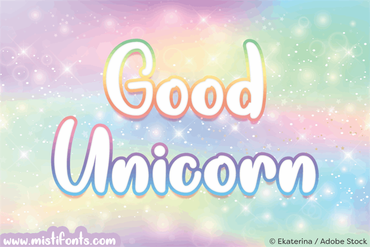 Good Unicorn font by Misti's Fonts