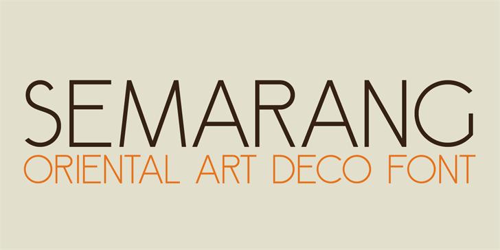 DK Semarang font by David Kerkhoff