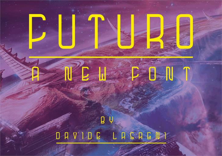 futuro font by Davide Lasagni