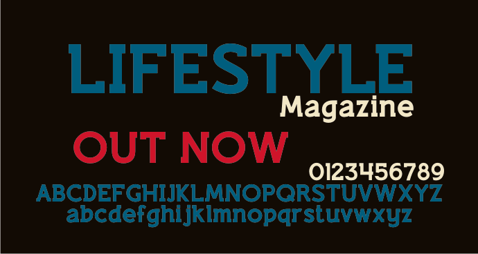 Lifestyle M54 font by justme54s