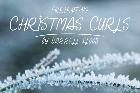 Christmas Curls font by Darrell Flood